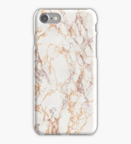 MARBLE - GOLD/WHITE iPhone Case/Skin
