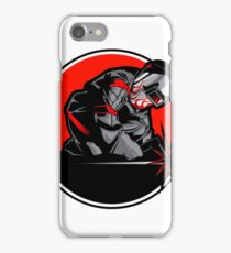 Welder working in the mask in the weld metal sparks iPhone Case/Skin