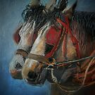 Draft horses.............Flo and Joe by sandysartstudio