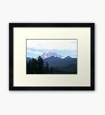 Mt Rainier Framed Print
