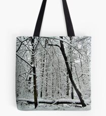 God Painting The Forest With Snow Tote Bag