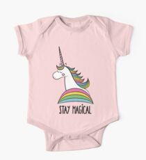Rainbow Unicorn - Stay Magical One Piece - Short Sleeve