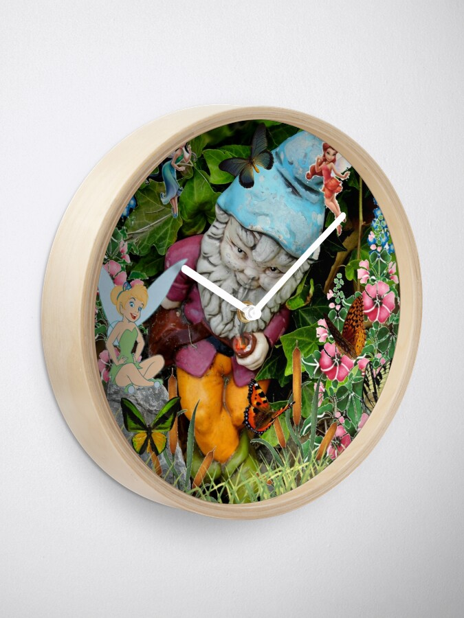 Alternate view of Naughty Gnome and Friends Clock