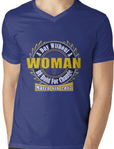 International womens Day #BeBoldForChange IWD 2017 Mens V-Neck T-Shirt