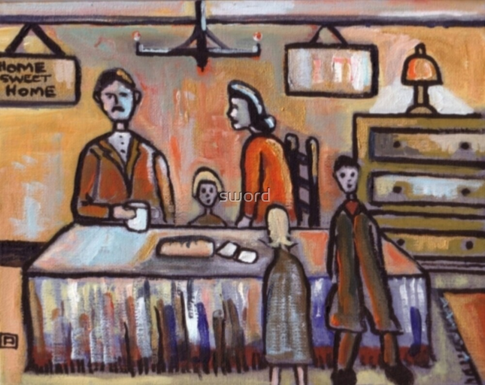 The Family (from my original acrylic painting) by sword