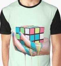 MELTING RUBIK Graphic T-Shirt