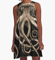 Bronze Kraken A-Line Dress