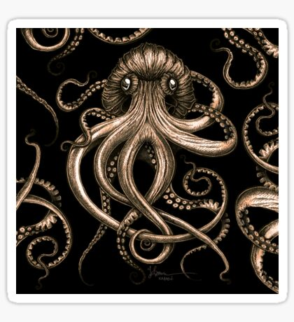 Bronze Kraken Sticker