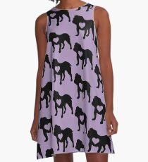 Bulldog Love A-Line Dress