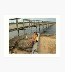 Urunga Boardwalk Art Print