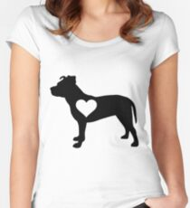 Pittie Love Women's Fitted Scoop T-Shirt