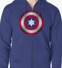Truth & Justice (Jewish Cap Shield for DB) Zipped Hoodie