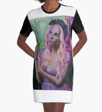 Alice Oil Painting Graphic T-Shirt Dress
