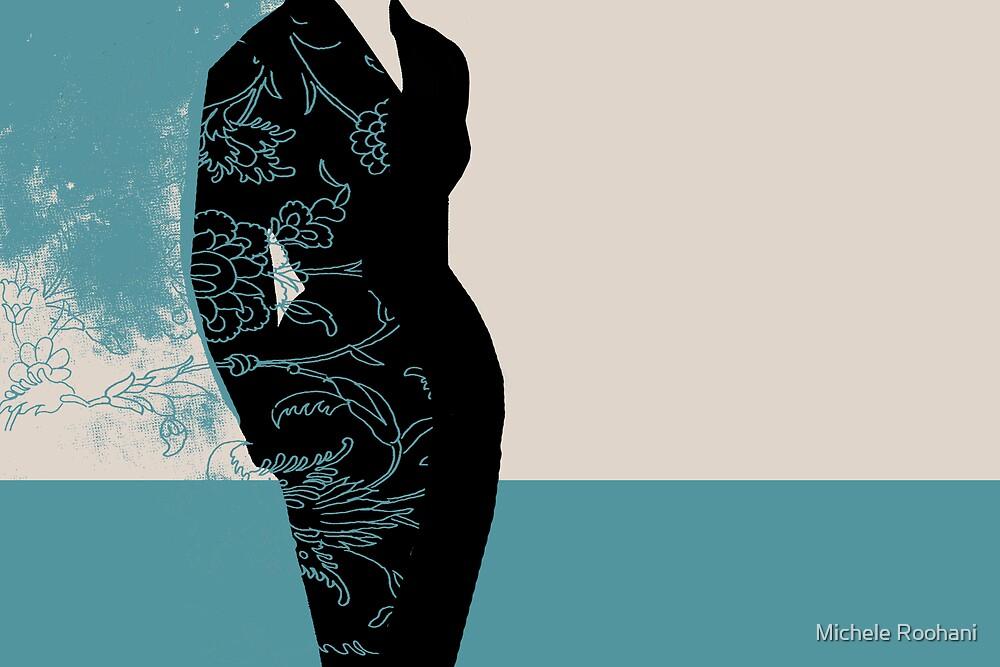 pretty woman in blue by Michele Roohani