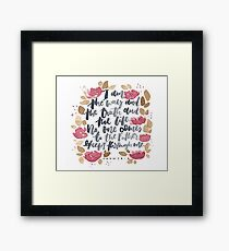 The Way, The Truth and the Life Framed Print
