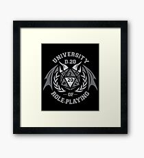 University of Role-Playing Framed Print