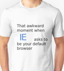 Default browser Unisex T-Shirt