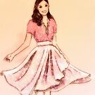 Girl in pink skirt by Hannah Gledhill