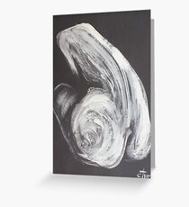 Black And White Crying Heart - Female Nude Greeting Card