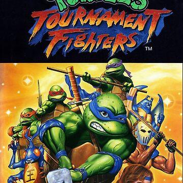 TURTLES - TOURNAMENT FIGHTERS JAPANESE ARTWORK  by vulgaris1901