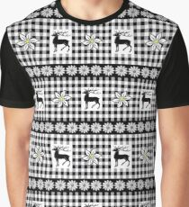 Edelweiss and Stag Graphic T-Shirt