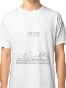 Belgrade city iconic buildings Classic T-Shirt