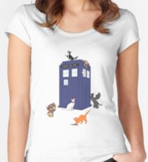 Doctor Who: Cats Women's Fitted Scoop T-Shirt