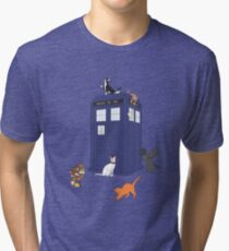 Doctor Who: Cats Tri-blend T-Shirt