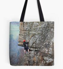 Climbers on Curbar Edge Tote Bag