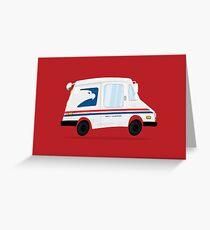 Cute Mail Truck Greeting Card