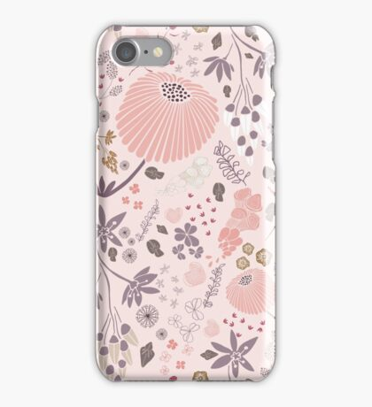 Field of Flowers in Pink and Purple iPhone Case/Skin