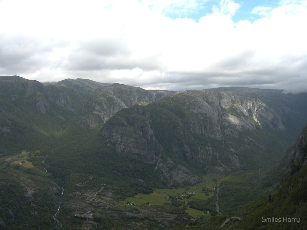 View from Kjerag Noway by Smiles Harry