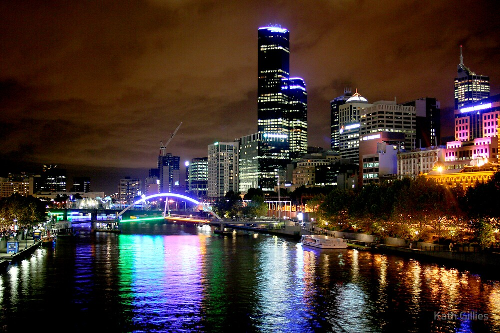Melbourne Yarra River by Kath Gillies