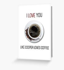 Romantic Twin peaks coffee reference design Greeting Card