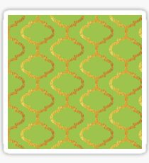 Mughal on acid green lattice Pattern Sticker