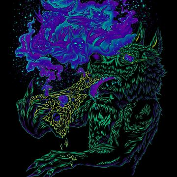 Trippy Wolf by BobyGates