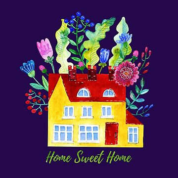 Home Sweet Home. Watercolor illustration by 1317
