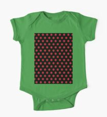 Polkadots Black and Red Kids Clothes