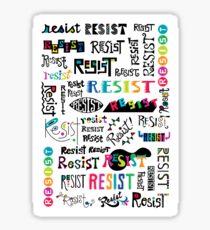 resist them white Sticker