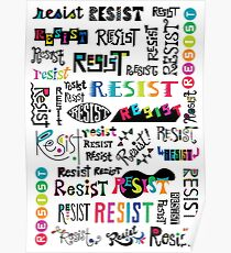 resist them white Poster