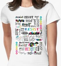 resist them white Womens Fitted T-Shirt