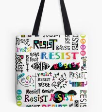 resist them white Tote Bag