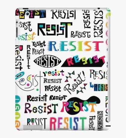 resist them white iPad Case/Skin