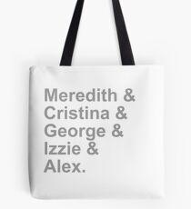 Grey's Squad Tote Bag