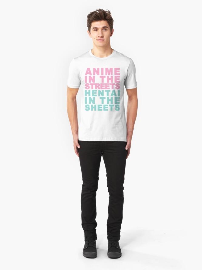 Alternate view of Anime Hentai Slim Fit T-Shirt