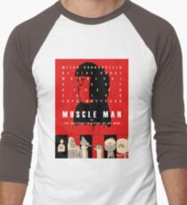 Muscle Man or (The Unexpected Virtue of My Mom) Men's Baseball ¾ T-Shirt