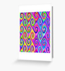 Colorful Algorithmic Pattern P07 - Spirals Greeting Card