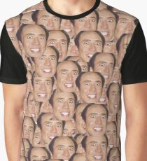 CAGECEPTION - Nicolas Cage faces meme Graphic T-Shirt