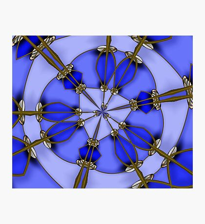 Blue gold and Silver balls Photographic Print