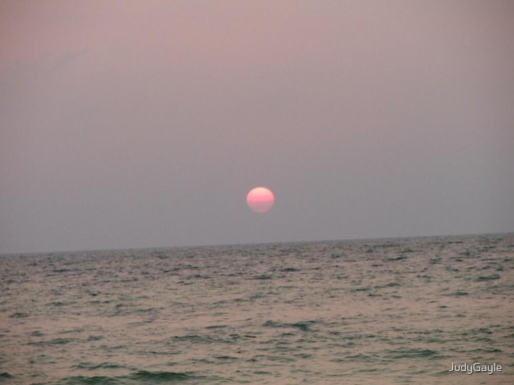 Beautiful Sun Setting by Judy Gayle Waller